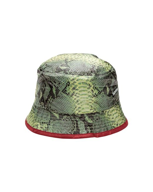 0238d54cb40d ... Supreme - Green Tnf Snakeskin Packable Reversible Crusher for Men - Lyst