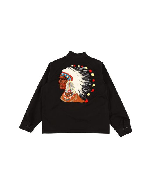 Supreme Black Chief Harrington Jacket 'fw 17' for men