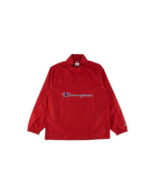 93cd89ec Supreme Champion Half Zip Pullover Top 'ss 17' in Red for Men - Lyst