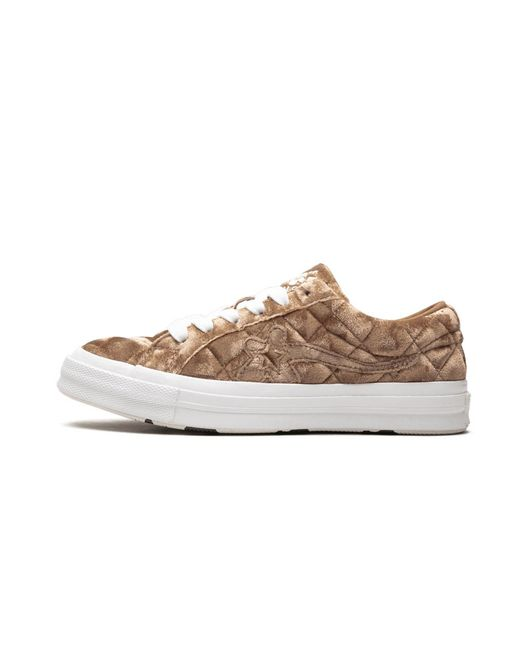 Converse Golf Le Fleur Ox Quilted Velvet Brown Sugar Shoes Size 4 For Men Lyst