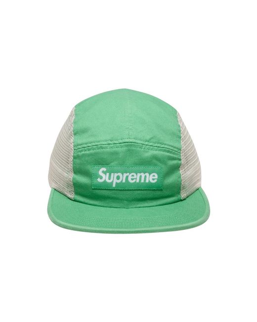 7c894afd Supreme Mesh Side Panel Camp Cap 'ss 18' in Green for Men - Save 36 ...