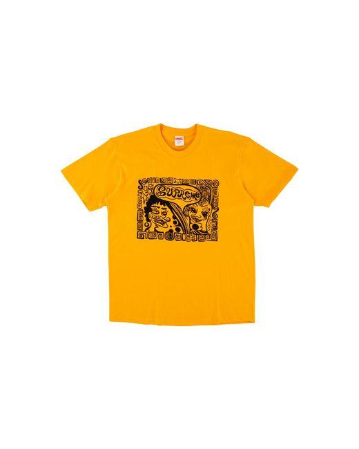 d08e0474 Supreme Faces T-shirt 'fw 18' in Orange for Men - Lyst
