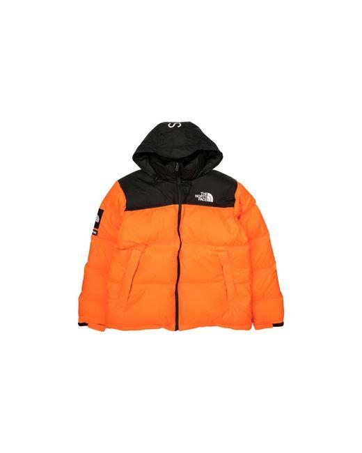 Supreme /the North Face Nuptse Jacket In Orange For Men - Lyst