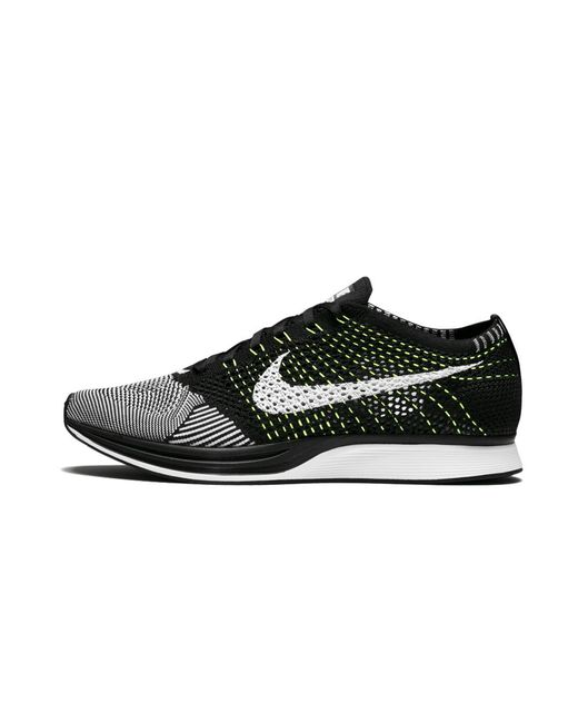 Nike Black Flyknit Racer Shoes - Size 13 for men