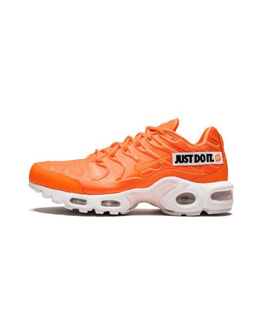 nike air max plus se just do it orange