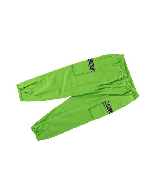 Supreme Green Reflective Taping Cargo Pant 'ss 18' for men