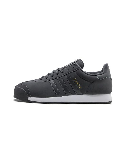adidas Leather Samoa Sneakers in Black