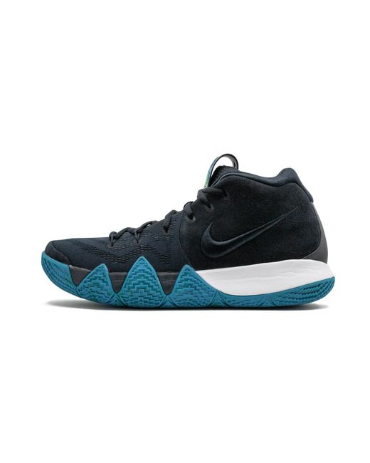 kyrie 4 black blue