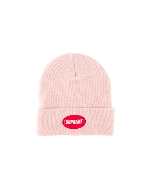 f18bf1a6 Supreme Rubber Patch Beanie Hat 'ss 18' in Pink for Men - Save 7% - Lyst