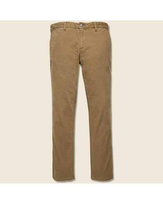 Faherty Brand Stretch Canvas Trouser - Weir Brown for men
