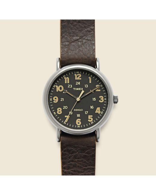 Timex | Multicolor Weekender 40mm Watch - Gunmetal/dark Brown Leather for Men | Lyst