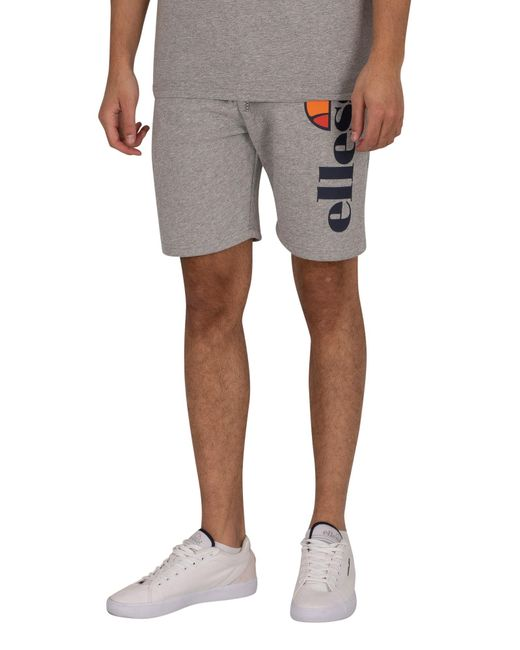 Ellesse Gray Bossini Fleece Sweat Shorts for men