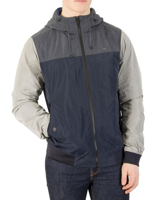 Scotch & Soda - Blue Navy/grey Short Hooded Jacket for Men - Lyst