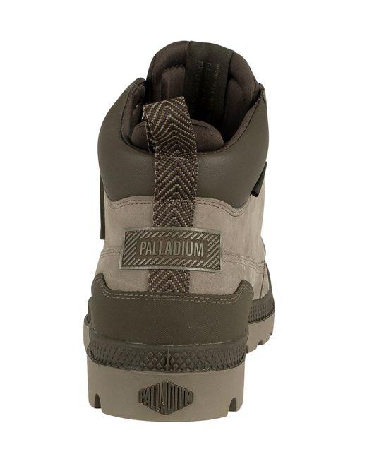 springa skor äkta det senaste Palladium Rubber Outsider Pampa Wp+ U Boots in Brown for Men ...