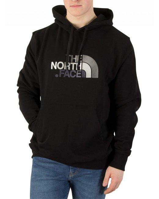 The North Face - Black/black Drew Peak Graphic Hoodie for Men - Lyst