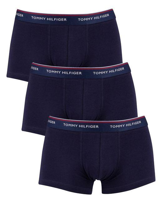 Tommy Hilfiger Men/'s 3 Pack Premium Essentials Boxer Briefs Blue