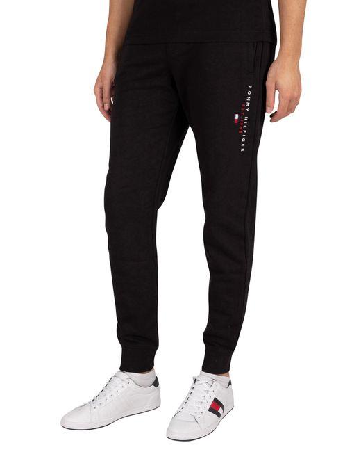 Tommy Hilfiger Black Essential Joggers for men