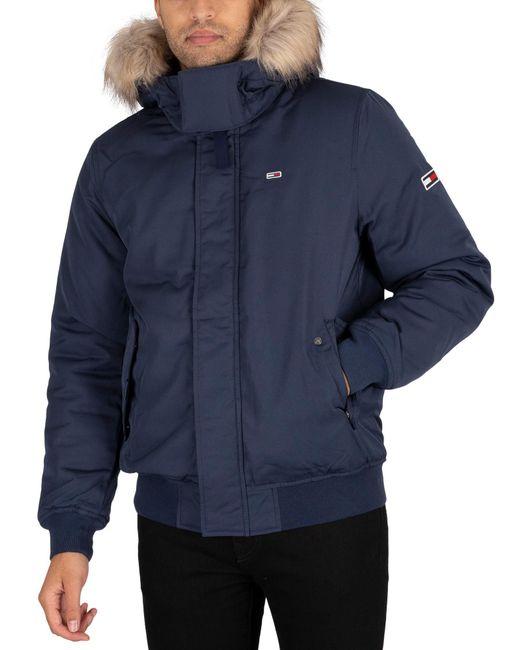 Tommy Hilfiger Blue Tech Bomber Jacket for men