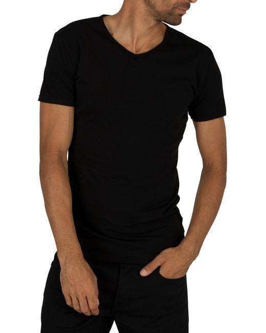 Black Tommy Hilfiger Men/'s 3 Pack Premium Essentials V-Neck T-Shirts