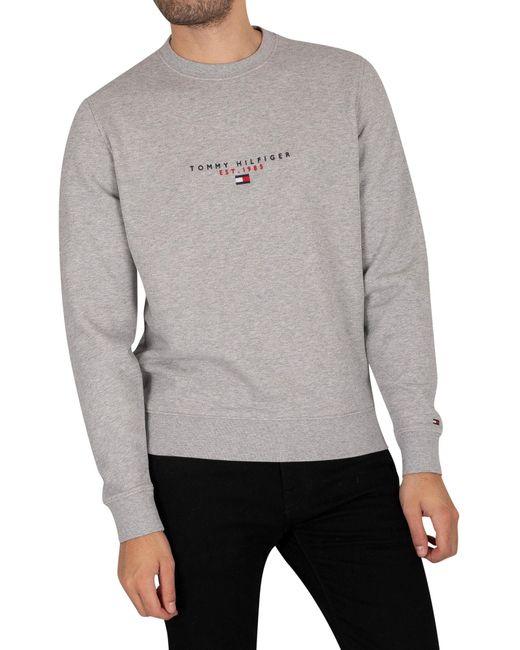 Tommy Hilfiger Gray Essentials Sweatshirt for men