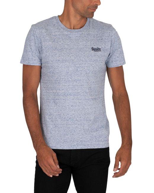 Superdry Blue Vintage Emb T-shirt for men