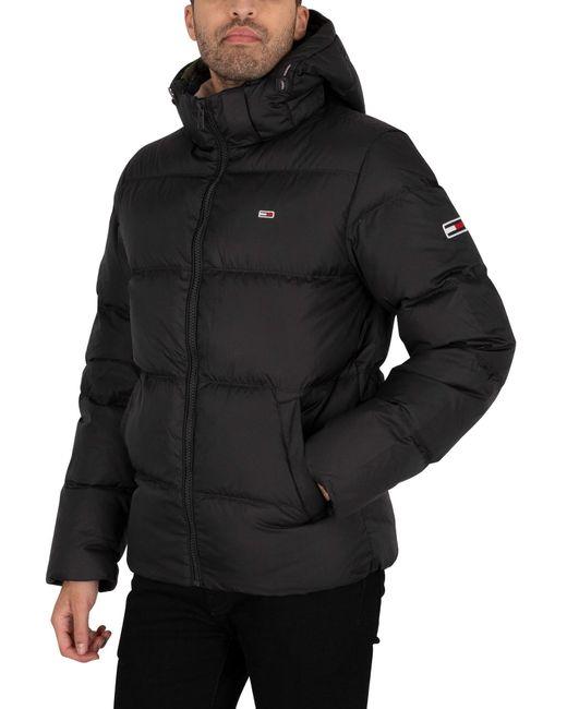 Tommy Hilfiger Black Essential Down Jacket for men