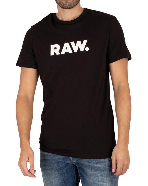 G-Star RAW Black Holorn T-shirt for men