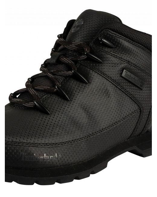 Men's Black Tectuff Euro Sprint Mid Hiker Boots