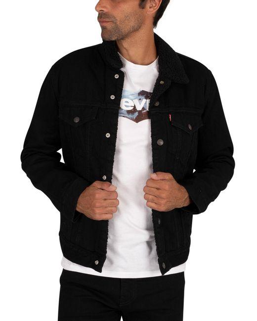 Levi's Black Type 3 Sherpa Trucker Jacket for men