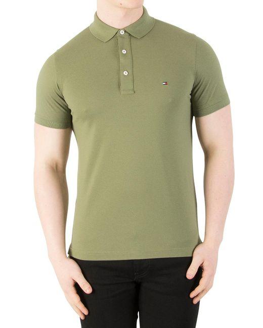 Tommy Hilfiger - Green Four Leaf Clover Slim Fit Polo Shirt for Men - Lyst