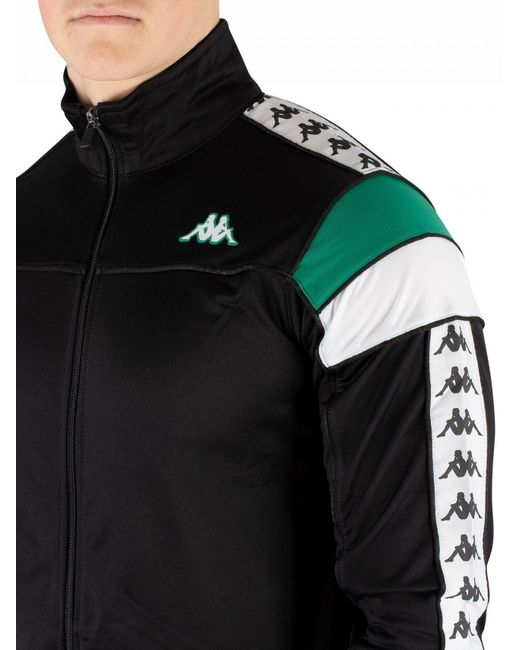 4fac26c4c8 Men's Black/green/white 222 Banda Merez Slim Track Top