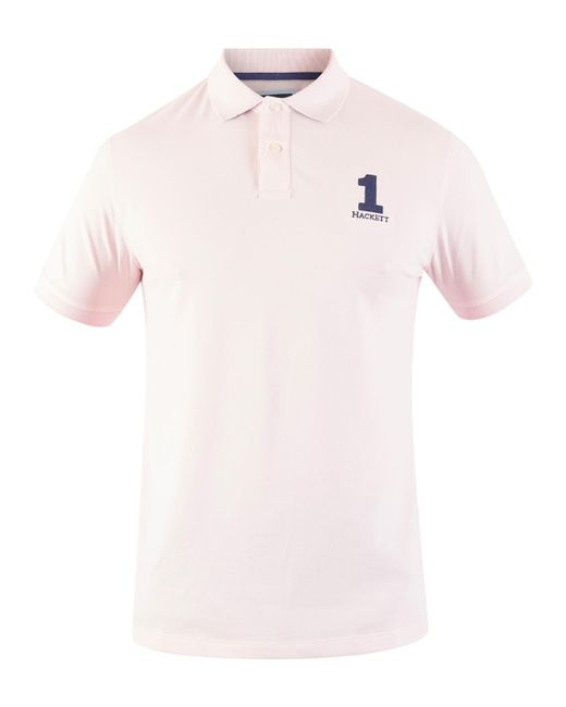 8e7d6ff61 ... best price hackett light pink new classic polo shirt for men lyst 1a978  07c12