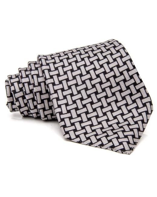 Kiton | Gray Grey And Black Basket Weave Tie for Men | Lyst