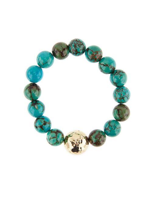 Nest | Multicolor Jasper Turquoise And Gold Beaded Stretch Bracelet | Lyst