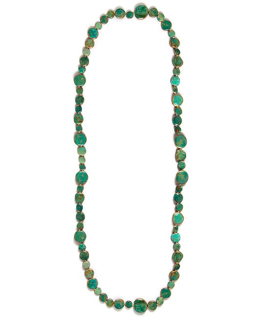 Devon Leigh | Copper Infused Green Turquoise Medallion Necklace | Lyst