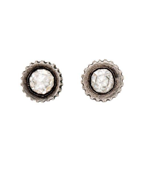 Yossi Harari   Multicolor Lilah Rose Cut Diamond Stud Earrings   Lyst