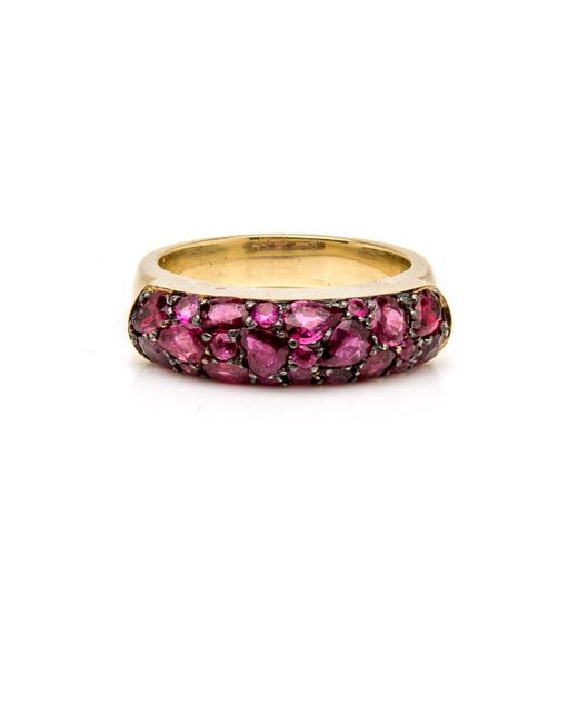 Sylva & Cie | Red Ruby Saddle Ring | Lyst