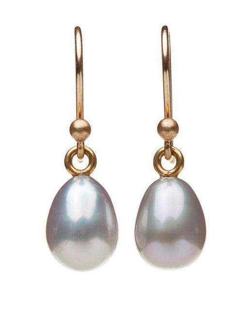 Ted Muehling   Gray Grey Pearl Earrings   Lyst