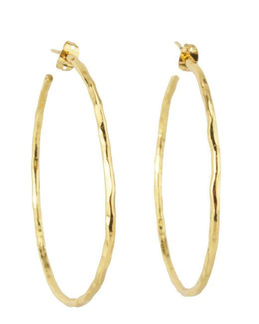 Nest   Metallic Thin Gold Hoop Earrings   Lyst