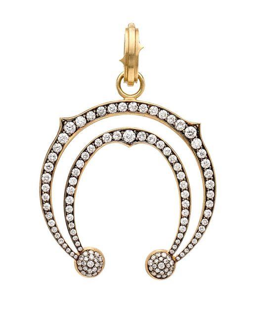 Sylva & Cie | Metallic Double Horseshoe Diamond Pendant | Lyst