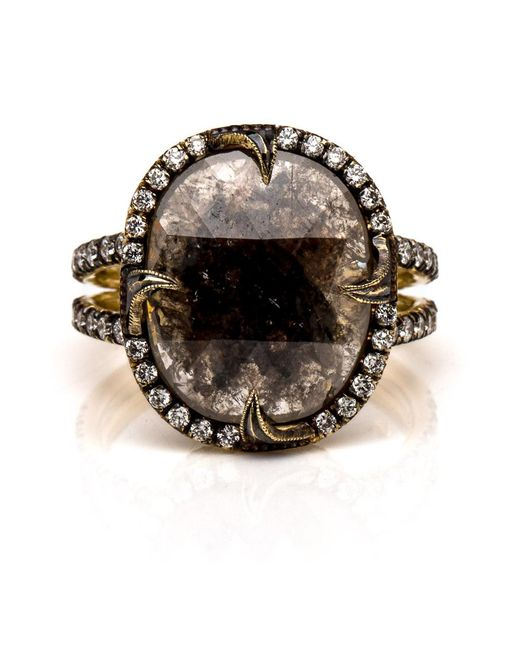 Sylva & Cie   Metallic Rough Cut Diamond Ring   Lyst