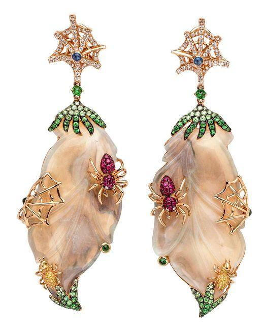 Wendy Yue - Multicolor Opal Spider Earrings - Lyst