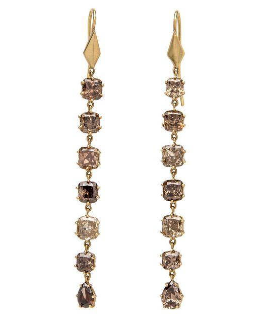 Sylva & Cie - Multicolor Mixed Fancy Diamond Long Earrings - Lyst