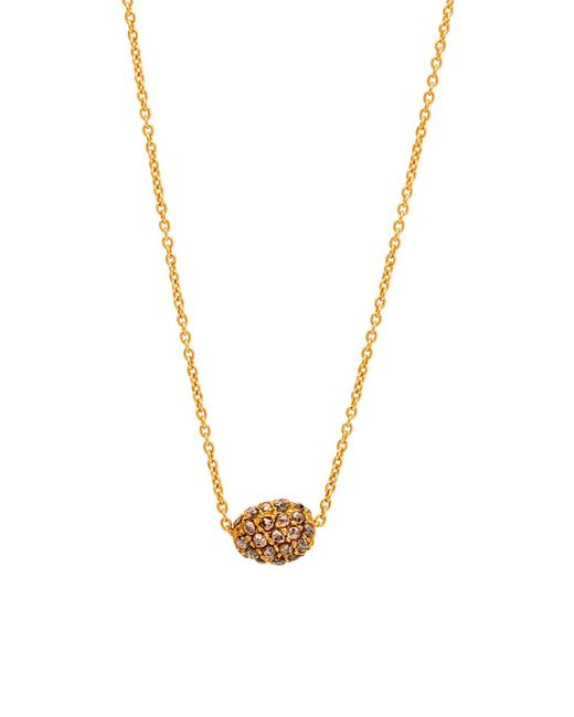 Yossi Harari | Metallic Helen Mini Cognac Diamond Pave Bead Necklace | Lyst