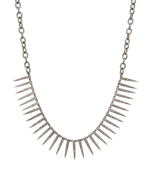 Hannah Ferguson - Metallic Diamond Pave Spike Necklace - Lyst