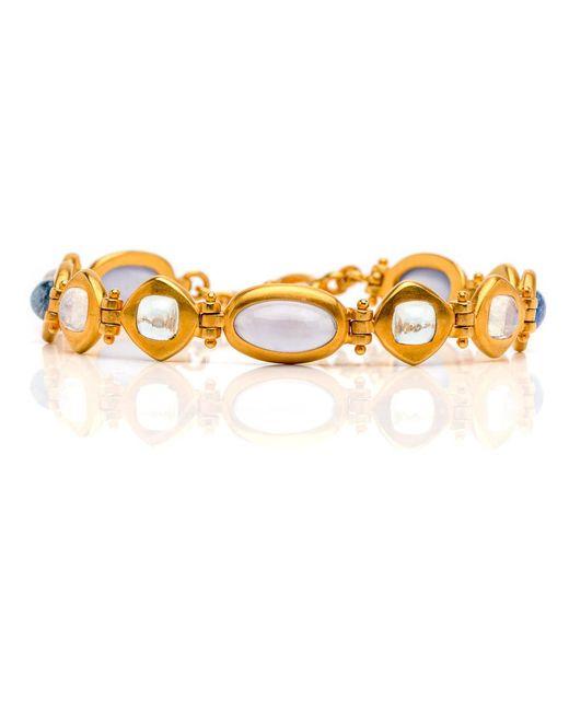 Darlene De Sedle - Metallic Cabochon Multi Stone Link Bracelet - Lyst