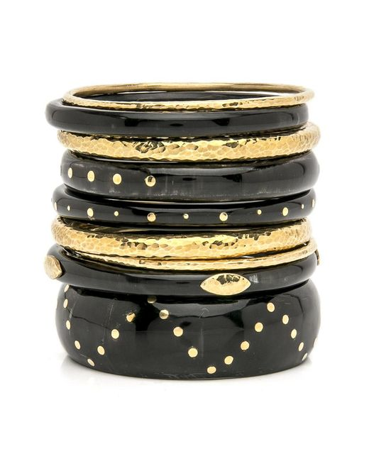 Ashley Pittman - Multicolor Uuniz Dark Horn Bangle Set - Lyst