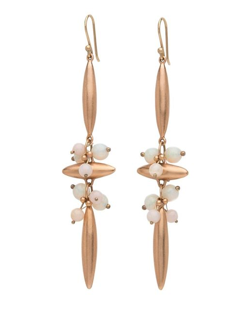 Ted Muehling - Multicolor Rose Gold With Australian Opals Cross Earrings - Lyst