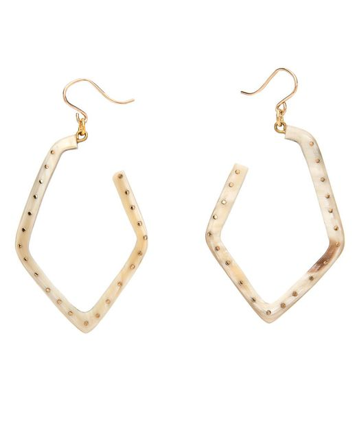Ashley Pittman - Metallic Awali Light Horn Earrings - Lyst
