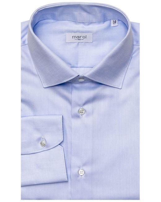 Marol Light Blue Dress Shirt 42 Metric for men